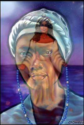 Yemaya Digital Art - Receiving Yemaya's Blessing by Carmen Cordova