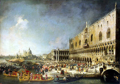 Reception Of The French Ambassador In Venice Art Print