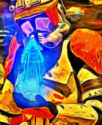 Storm Digital Art - Receving The Order - Da by Leonardo Digenio