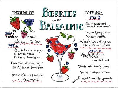 Painting - Recipe- Berries In Balsamic by Diane Fujimoto