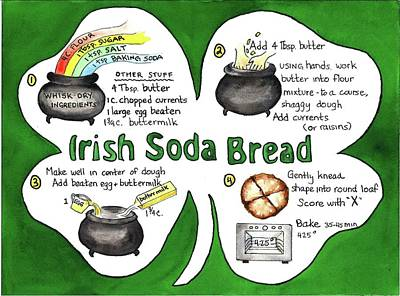 Painting - Recipe - Irish Soda Bread by Diane Fujimoto