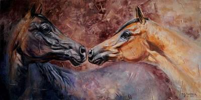 Wall Art - Painting - Reciprocity by Anna Franceova