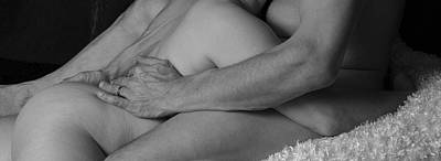 Nude Photograph - Reclined Embrace Bnw by Robert Gebbie