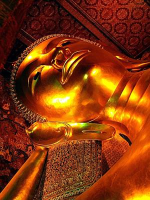 Photograph - Reclining Buddha by Diane Height