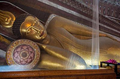 Photograph - Reclining Buddha, Kelaniya Temple, Colombo by Judith Barath