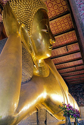 Photograph - Reclining Buddha Of Wat Pho by David Freuthal
