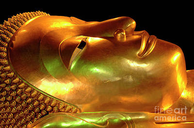 Photograph - Reclining Buddha Thailand 2 by Bob Christopher