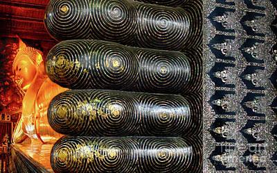 Photograph - Reclining Buddha Thailand 3 by Bob Christopher