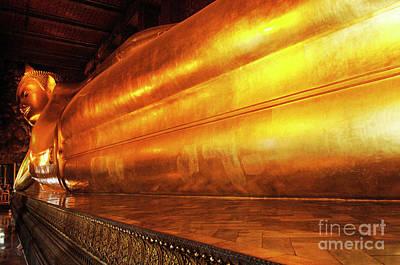 Photograph - Reclining Buddha Thailand 4 by Bob Christopher