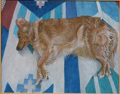 Painting - Reclining Dog Series by James Sparks