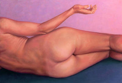 Painting - Reclining Figure - Posterior by James W Johnson