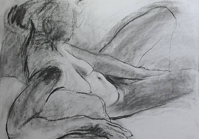 Drawing - Reclining Figure by Harry Robertson