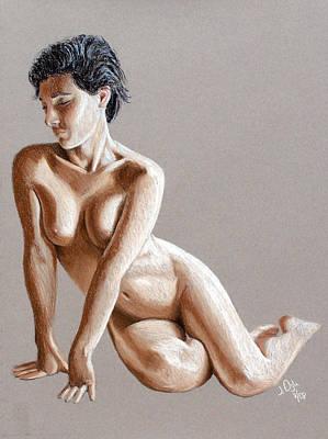 Joe Ogle Painting - Reclining Figure by Joseph Ogle