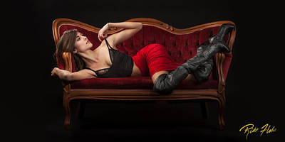 Photograph - Reclining Hannah by Rikk Flohr