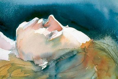 Painting - Reclining Head Study by Barbara Pease
