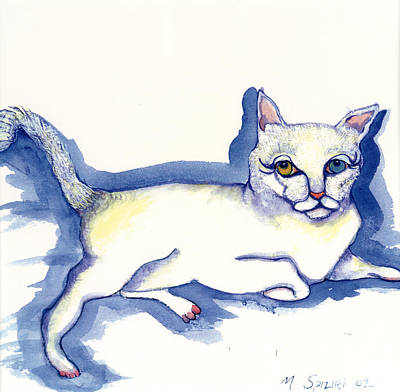 Painting - Reclining Kitty by Michelle Spiziri