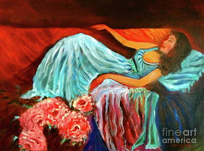 Painting - Reclining Lady 111 by Jenny Lee
