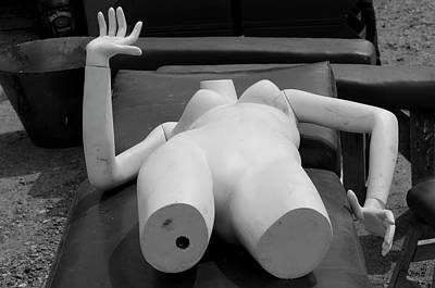Photograph - Reclining Mannequin I by David Gordon