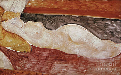 Reclining Nude, 1919 Art Print by Amedeo Modigliani