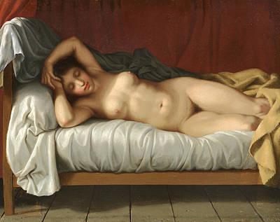 Painting - Reclining Nude by Christoffer Wilhelm Eckersberg
