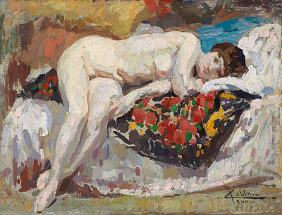 Orgy Painting - Reclining Nude by Jean Colin