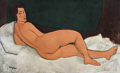 Painting - Reclining Nude On The Left Side  by Amedeo Modigliani