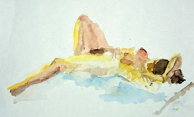 Painting - Reclining Nude by Rachel Rose