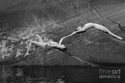 Nudes Royalty-Free and Rights-Managed Images - Reclining Nudes by Inge Johnsson