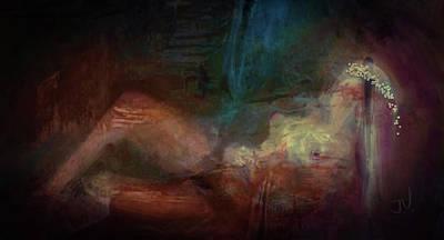 Digital Art - Reclining Princess by Jim Vance