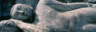 Buddhism Photograph - Reclining Stone Buddha Polonnaruwa, Sri by Panoramic Images