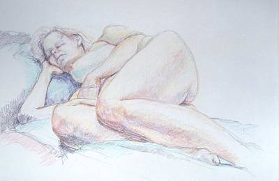 Painting - Reclining Study 2 by Barbara Pease