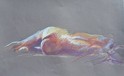 Painting - Reclining Study 5 by Barbara Pease