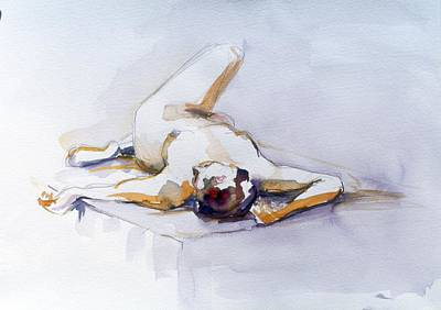 Painting - Reclining Study 6 by Barbara Pease