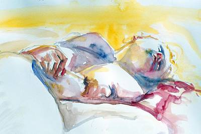 Painting - Reclining Study by Barbara Pease