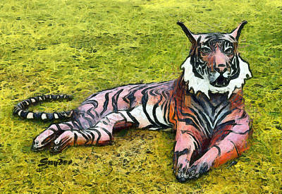 Photograph - Reclining Tiger By Morris B Squire by Floyd Snyder