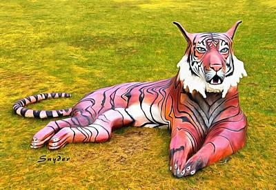 Photograph - Reclining Tiger By Morris Squire by Floyd Snyder