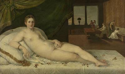 Reclining Venus Art Print by Lambert Sustris