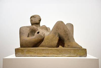 Photograph - Reclining Woman Carved Out Of Green Horton Stone By Henry Moore  by Reimar Gaertner