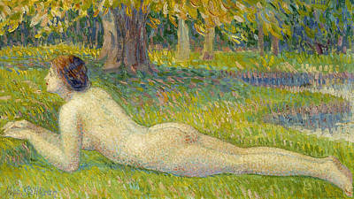 Reclining Woman Art Print by Hippolyte Petitjean