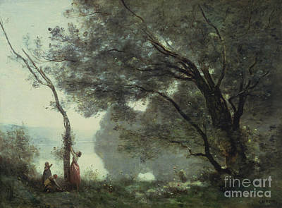 Country Side Painting - Recollections Of Mortefontaine by Jean Baptiste Corot