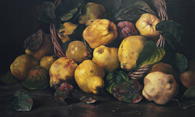 Pears Painting - Recolte De Coing by Kira Weber