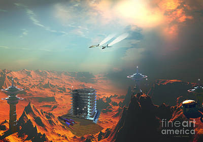 Recon Over Seneca 3 Art Print