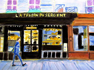 Reconnoiter Parisian Stores In Your Dreams Art Print by Stanley Morganstein