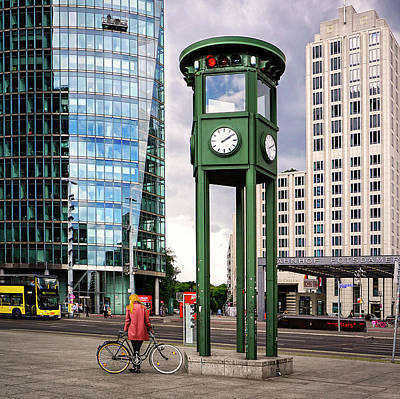 Photograph - Reconstructed First Traffic Light In Berlin by Phil Cardamone