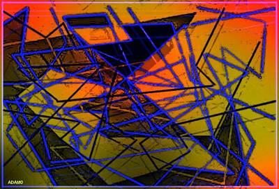 Reconstruction Digital Art - Reconstruction Of A Poem by Tony Adamo