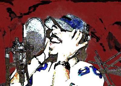 Recording Art Print by LeeAnn Alexander