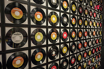 Photograph - Records At Johnny Cash Museum by Patricia Hofmeester