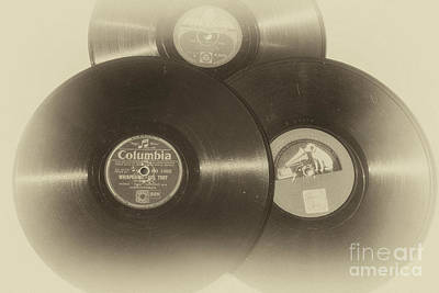 Photograph - Records Of The 1940's And Fifties by Patricia Hofmeester