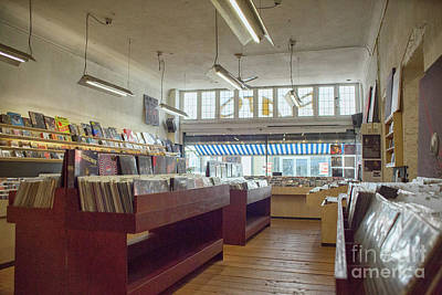 Photograph - Records On Display At Record Store by Patricia Hofmeester