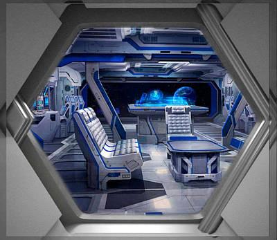 Digital Art - Recreation Lounge Babylon 5 by Mario Carini